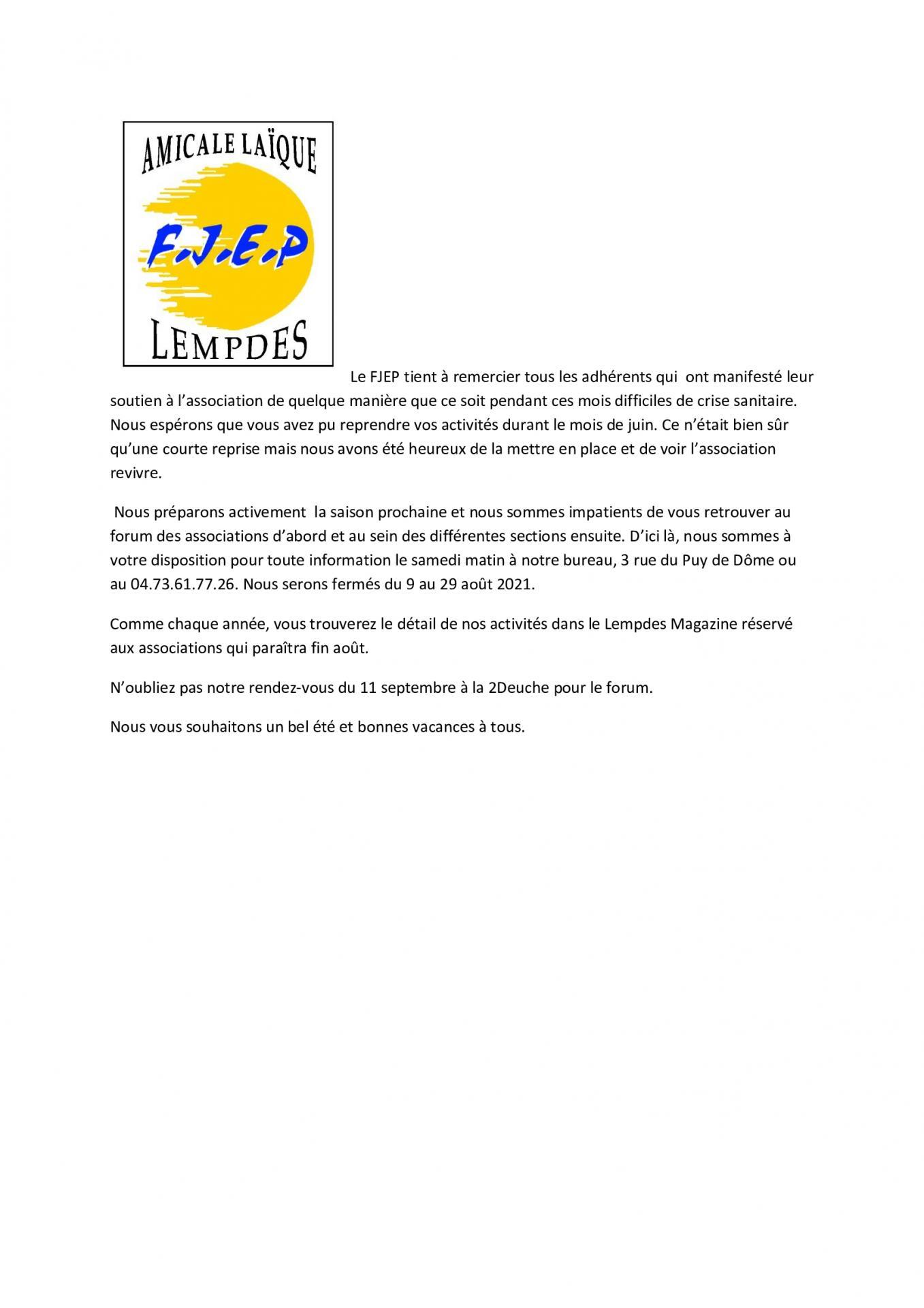 Lempdes magazine juillet 2021